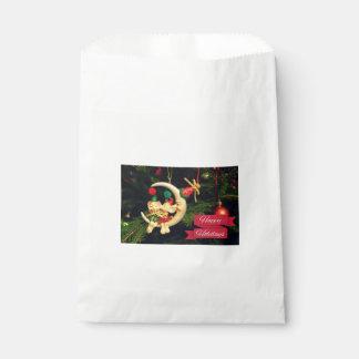 Christmas's mice on the Moon Favor Bag