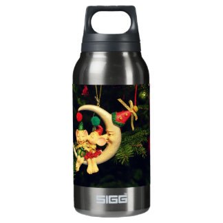 Christmas's mice on the Moon Insulated Water Bottle