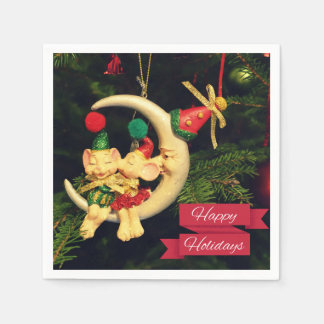 Christmas's mice on the Moon Paper Napkins