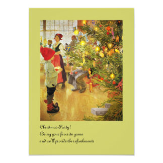 Christmastime Again little boy and Julgran Card