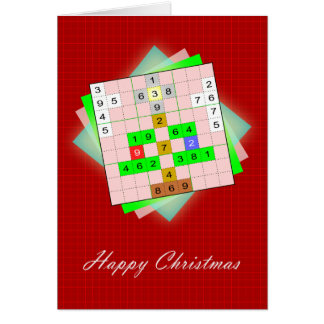ChristmasTree - Christmas figurative Sudoku Card