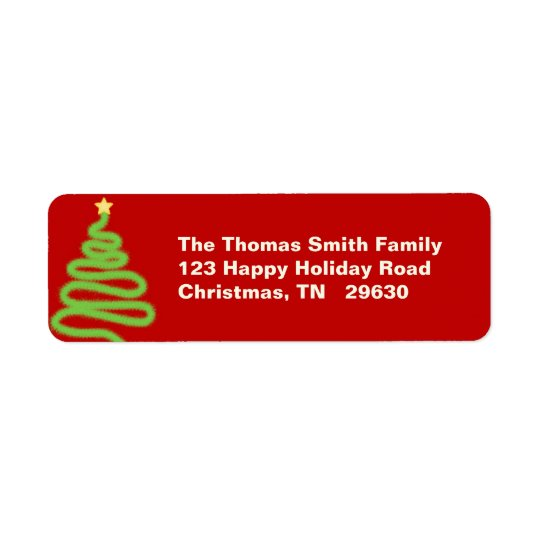 ChristmasTree Return Label