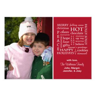 Christmasy exprime la carte de Noël (Bourgogne) Cartons D'invitation Personnalisés