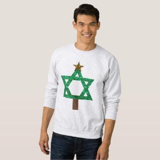 christmukkah christmas tree mens sweatshirt