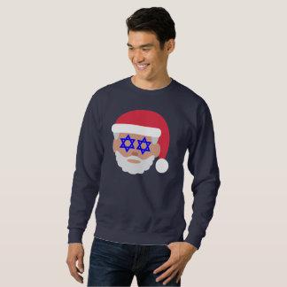 christmukkah santa claus emoji mens sweatshirt