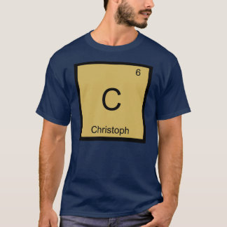 Christoph Name Chemistry Element Periodic Table T-Shirt