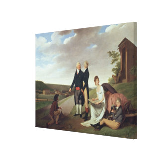 Christophe-Philippe Oberkampf and family Canvas Print
