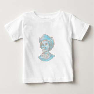 Christopher Colombus Explorer Bust Drawing Baby T-Shirt