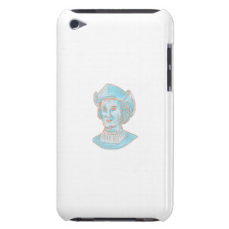 Christopher Colombus Explorer Bust Drawing Barely There iPod Case