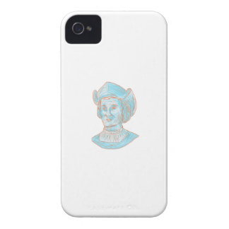 Christopher Colombus Explorer Bust Drawing Case-Mate iPhone 4 Cases