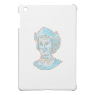 Christopher Colombus Explorer Bust Drawing iPad Mini Cases
