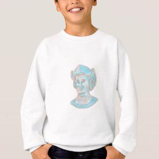 Christopher Colombus Explorer Bust Drawing Sweatshirt
