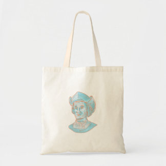 Christopher Colombus Explorer Bust Drawing Tote Bag