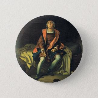 Christopher Columbus paint by Antonio de Herrera 2 Inch Round Button