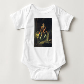 Christopher Columbus paint by Antonio de Herrera Baby Bodysuit
