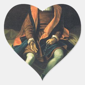 Christopher Columbus paint by Antonio de Herrera Heart Sticker