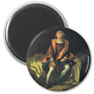 Christopher Columbus paint by Antonio de Herrera Magnet
