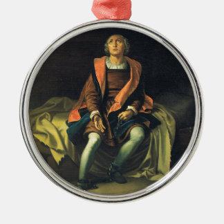 Christopher Columbus paint by Antonio de Herrera Metal Ornament