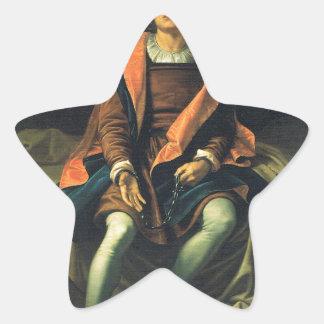 Christopher Columbus paint by Antonio de Herrera Star Sticker