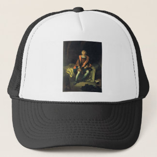 Christopher Columbus paint by Antonio de Herrera Trucker Hat