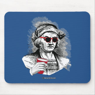 Christopher Columbus Party Animal Mouse Pad
