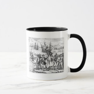 Christopher Columbus  receiving  gifts Mug