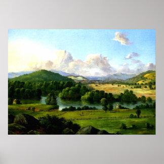 Christopher Cranch: River Running Between Pastures Poster