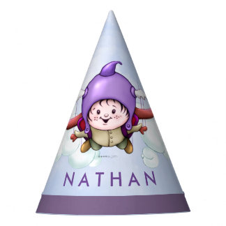 CHRISTOPHER CUTE CARTOON Party Hat