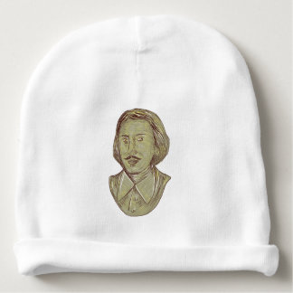 Christopher Marlowe Bust Drawing Baby Beanie