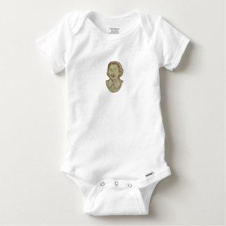 Christopher Marlowe Bust Drawing Baby Onesie
