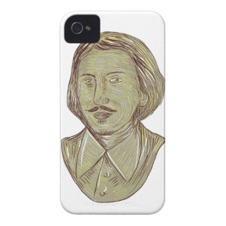 Christopher Marlowe Bust Drawing iPhone 4 Cases