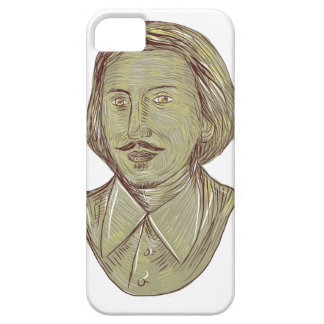 Christopher Marlowe Bust Drawing iPhone 5 Cover