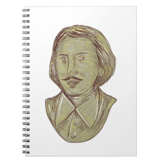 Christopher Marlowe Bust Drawing Note Book