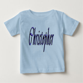 Christopher, Name, Logo, Baby's Blue T-shirt