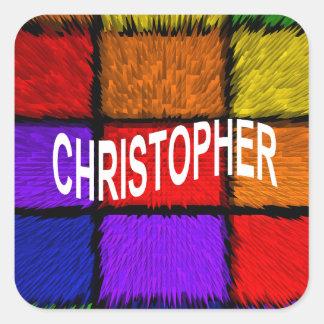 CHRISTOPHER SQUARE STICKER