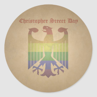 Christopher Steet Day - Old Classic Round Sticker