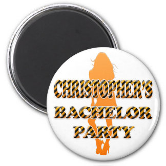 Christopher's Bachelor Party 2 Inch Round Magnet