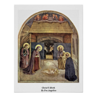 Christ'S Birth By Fra Angelico Poster