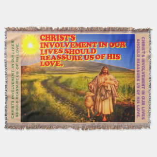 Christ's Involvement In Our Lives. Throw Blanket