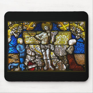 Christ's stain dog lath mouse pad