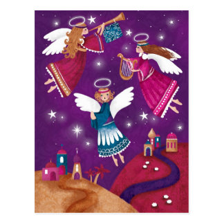 Chritmas religieux moderne, trois anges carte postale