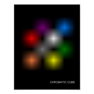 "Chromatic Cube ""Classic"" Poster"