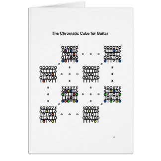 Chromatic Cube for Guitar - New Year's Card