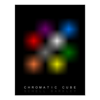 Chromatic Cube Poster