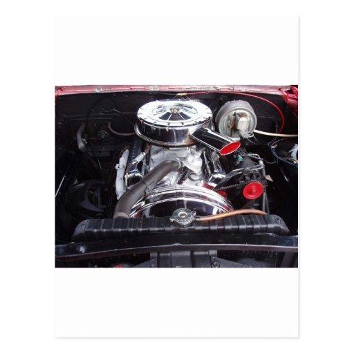 chrome 1960 impala engine postcards