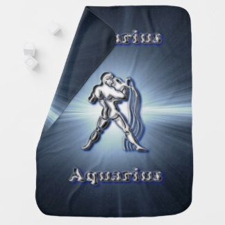 Chrome Aquarius Baby Blanket