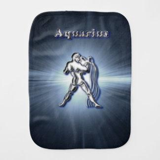 Chrome Aquarius Burp Cloth