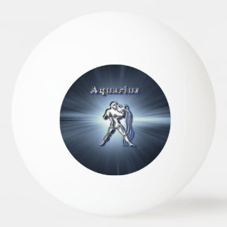 Chrome Aquarius Ping Pong Ball