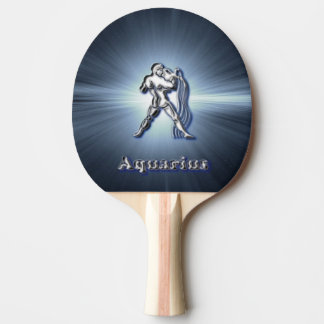 Chrome Aquarius Ping Pong Paddle