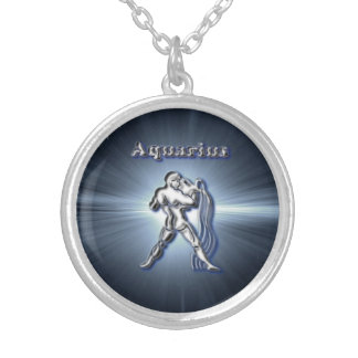 Chrome Aquarius Silver Plated Necklace